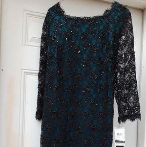 Adriana Papell evening sheath dress